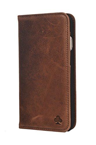 Porter Riley - Lederhülle für Samsung Galaxy S8. Premium Echtleder Standhülle/Cover/Brieftasche kompatibel mit Samsung Galaxy S8 (Schokoladenbraun)