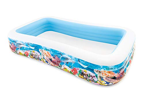 Intex 58485NP - Piscina hinchable tropical 305 x 183 x 56 cm, 1.020 litros