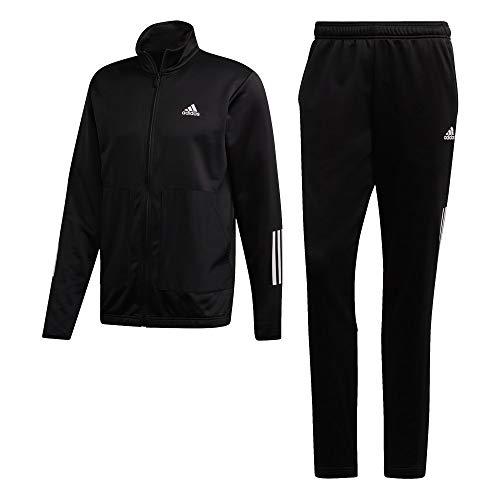 adidas Herren Fabric Mix Tracksuit Trainingsanzug, Black, M