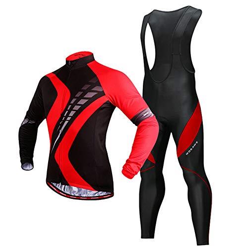 Heren Fietskleding met lange mouwen - Herfst en Winter Warm Plus Fluweel Winddicht Fietsen Buitensportkleding
