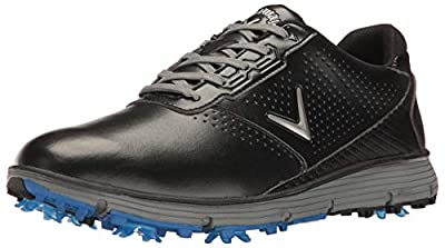 Callaway Men's Balboa TRX Golf Shoe, Black/Grey, 12 D US