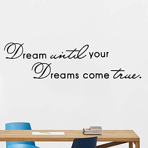 Pegatinas de vinilo para pared, pegatinas creativas, sueño juvenil, sala de estudio, sueños artísticos, hechos realidad, pegatina de escritorio con frases alentadoras, 57x15cm