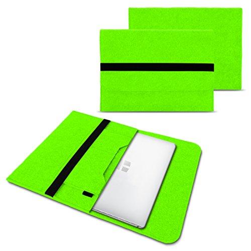 NAUC Laptoptasche Sleeve Schutztasche Hülle für Trekstor Surfbook W1 W2 Netbook Ultrabook 14,1 Zoll Laptop Filz Hülle, Farben:Grün
