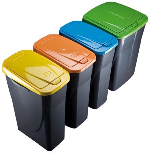 Mondex Müllsortierer 25 Liter mit schwarzem Deckel