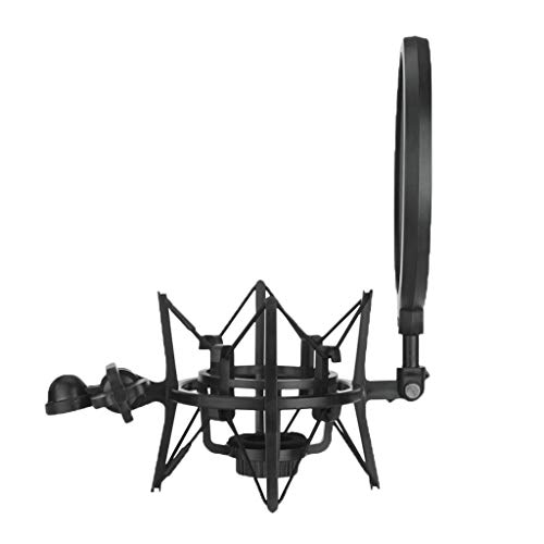 H HILABEE Clip Universal Del Clip De Soporte De Choque De Micrófono De Araña Anti Vibración