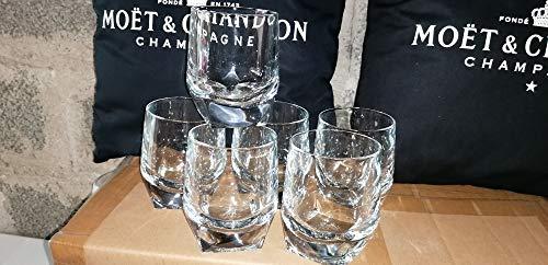 Lote de 6 vasos de cristal Johnie Walker Blue – Nueva y muy LOURD/MAGNIFICA