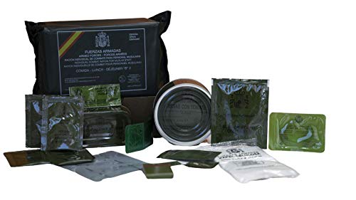 Spanish MRE Army Ration Meal Ready To Eat Emergency Food Supplies Genuine Military (A1)