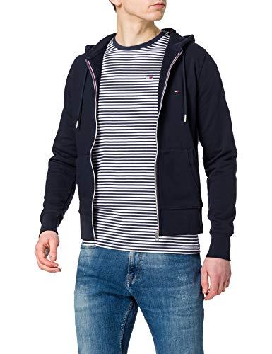 Tommy Hilfiger Herren Core Cotton Zip Hoodie Pullover, Desert Sky, XL