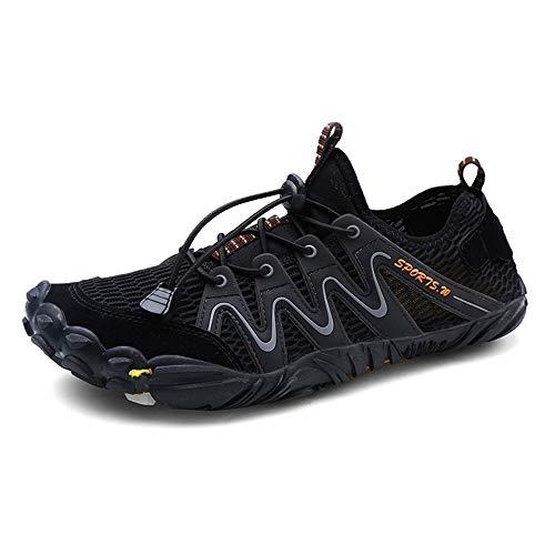 YLiansong-home Zapatos de Agua Tamaño Plus Masculino Cinco Dedos Aguas Arriba Calza los Zapatos de Rafting Montañismo Agua para Nadar (Color : Black, Tamaño : 36)