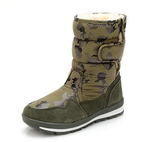 Botas de Nieve for Niños, Niñas Y Niños de Invierno A Prueba de Agua, Zapatos Cálidos Al Aire Libre, Más Terciopelo Acolchado for Padres Y Niños Zapatos de Algodón. ( Color : G , Size : 42 )