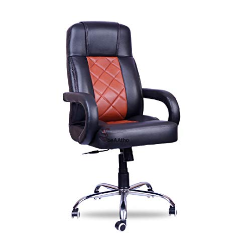 beAAtho JS-2 Executive High Back Revolving Office/Director/Gaming Chair (Black and Rust)