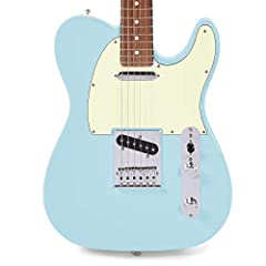 "This Fender Player Telecaster comes in a CME Exclusive Daphne Blue finish! Body Material: Alder Neck: Maple, Modern ""C"" Fingerboard: Pau Ferro 9.5"" (241 mm) Bridge: 6-Saddle String-Through-Body Tele with Bent Steel Saddles"
