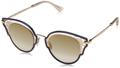 Jimmy Choo DHELIA/S JL KY2 48 Occhiali da Sole, Blu (Bluette Gold/BW Brown), Donna