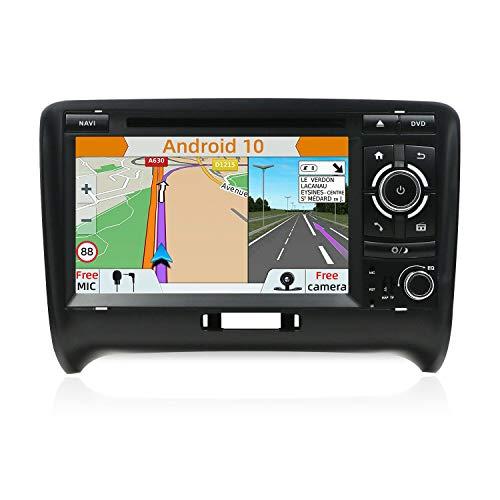 YUNTX Android 10 Autoradio Compatibile con Audi TT (2006-2011) - GPS 2 Din - Telecamera Posteriore e Canbus Gratuiti - 7 Pollice - Supporto DAB + / Controllo del volante /4G/WiFi/Bluetooth/Carplay