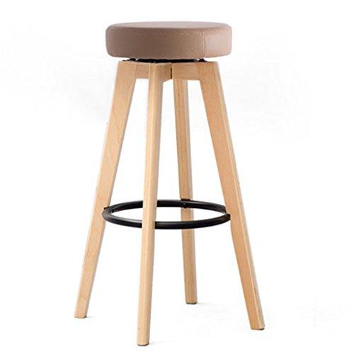 Tabouret en bois Tabouret de bar/tabouret haut/maison tabouret de bar en bois massif/moderne minimaliste tournant chaise européenne créative (Couleur : #1, taille : Height 65cm)