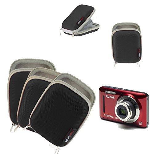 Navitech Schwarz wasserdichte Harte Kamera Kasten Abdeckung für Kodak Pixpro SP360 4K