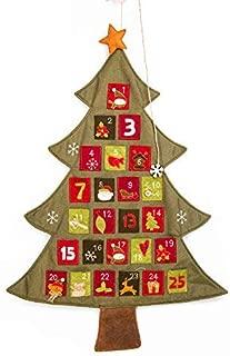 DotPet Linen Christmas Advent Calendar, 24 Day Countdown Calendar for Christmas Decorations (Colorful)