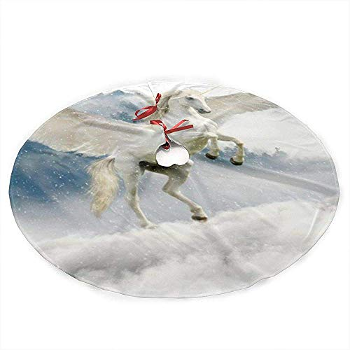 zzzswbl Weihnachtsbaum Rock Schimmel Mit Flügel Ornament Xmas Party Holiday Neujahr Dekoration Weihnachtsbaum Rock 76Cm