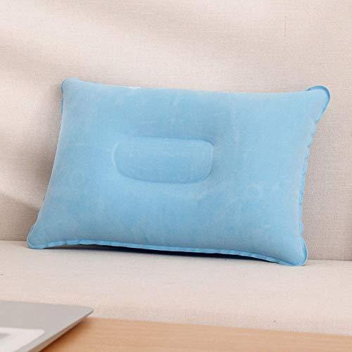 JONJUMP Conveniente ultraligero inflable PVC nylon almohada de aire dormir cojín viaje dormitorio senderismo playa cabeza resto apoyo