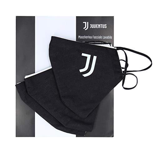 Juventus Kit 3 Mascherine Facciali Lavabili - 100% Originale - 100% Prodotto Ufficiale - Bramask - Uomo - Taglia Unica