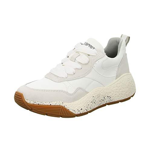 ESPRIT Damen Sasha Sneaker, Weiß (Weiß 100), 40 EU