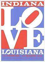 ポスター ロバート インディアナ Love louisiana 額装品 アルミ製ハイグレードフレーム(ホワイト)