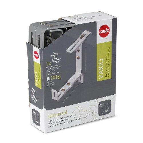EMSA 506710 Vario Blumenkastenhalter, aluminium