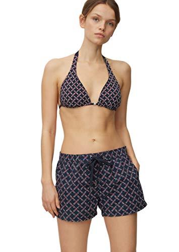 Marc O'Polo Body & Beach Damen W-Beach Shorts Badeshorts, Schwarz (Blauschwarz 001), 42 (Herstellergröße: XL)