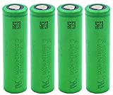 Batería De Litio Recargable Recargable De Cama Plana 18650 De 3.6 Volte, Descarga Vtc4, 30A Máx, 2100 Mah, Batería para Linterna, Banco De Energía, Radio-4 Piezas