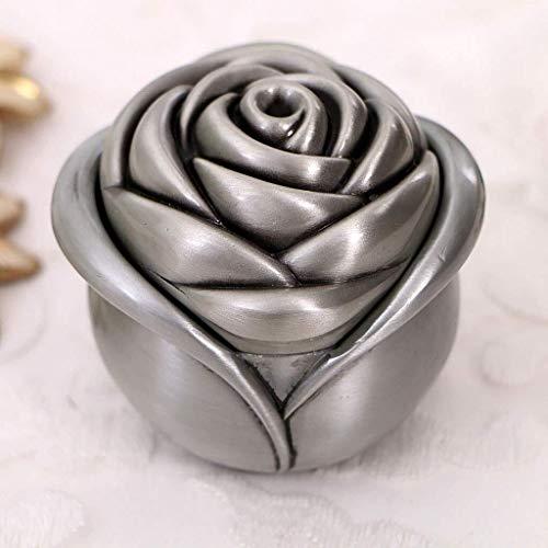Decoratieve box Sieraden kast Metal ring opbergdoos, steeg vorm, romantische verlovingsring box grote sieraden doos Juwelendoos