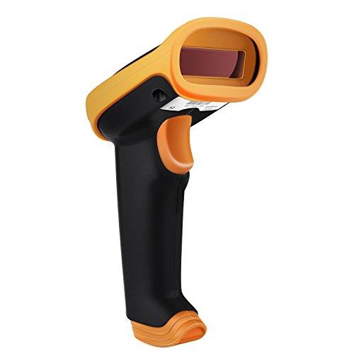UeeVii 1D Lector de Código de Barras 2.4G Inalámbrico y USB con Cable Recargable Barcode Scanner para el inventario