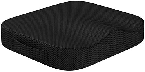 Portable Comfort Cushion Orthopedic Memory Foam Seat Cushion Coccyx Lower Seat Cushion for Office Car Seats Back Pain Relief Cushion Great Office Chair Cushion (Black)