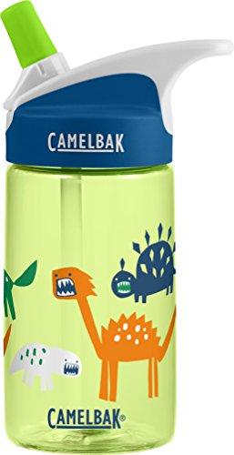 CamelBak Eddy 0.4-Liter Kids Water Bottle –  - CamelBak Kids Big Bite Valve - Spill Proof-  - Water Bottle For Kids - BPA-Free Water Bottle – 12 Ounces, Zany Dino, Bottle Only