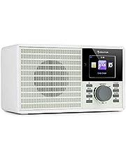 """auna IR-160 SE - Radio con Internet, Sonido estéreo, Dab+ y FM, Reproductor Multimedia: Spotify Connect/BT/USB/UPnP/DLNA, Pantalla HCC 2,8"""", Formatos reconocidos: WMA / MP3, Blanco"""