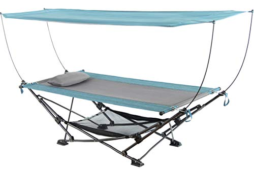 Mac Sports H806S-201 Collapsible Portable Removable Canopy Hammock, Teal