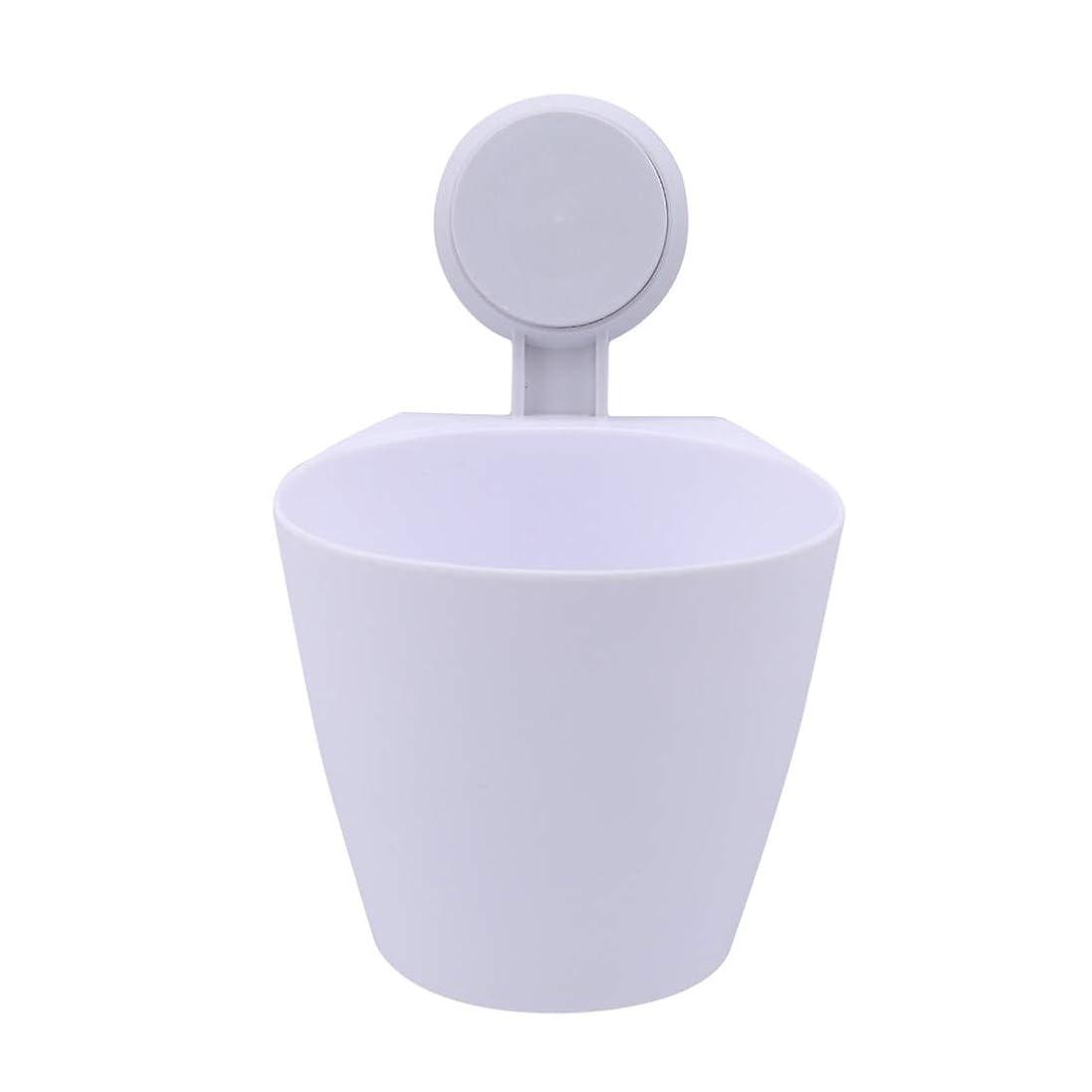 VWH サクションカップ式ゴミ箱 バスルーム用ゴミ箱 キッチンオフィス家庭用収納ボックス(白)