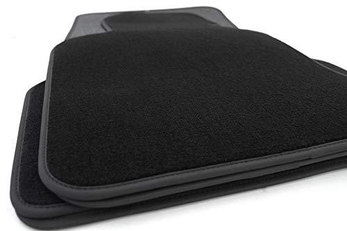 Fussmatten E60 E61 5er Autoteppich Original Premium Qualität Velours mit Nubuk 4-teilig