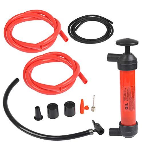OFNMY Siphonpumpe Multifunktionale Handpumpe Saugpumpe mit 3 Schlauch 5L/Minute für Gas Öl BenzinWasser und andere Flüssigkeiten im Notfall