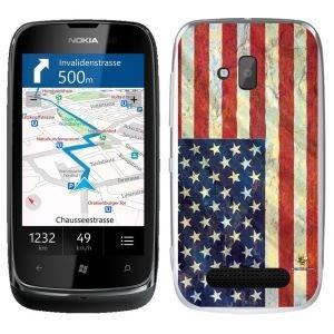 Buzzebizz - Cover per Nokia Lumia 610, Motivo: Bandiera degli Stati Uniti