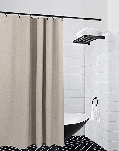 JASSXIN Gewebe-Duschvorhang, Schimmelabweisend, Abwaschbar, Ungiftig, Geruchlos Qualität, Wasserdicht Und Antibakteriell Duschvorhang, Leinen Duschvorhang,200 * 200