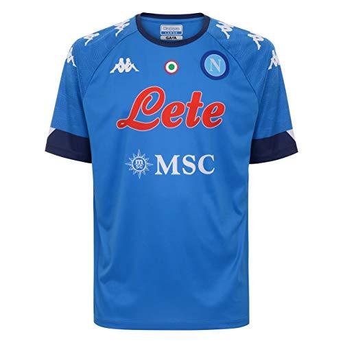 SSC Napoli Casa Camiseta réplica Home 2020/21, Unisex Adulto, Azure-Blue Intense, L