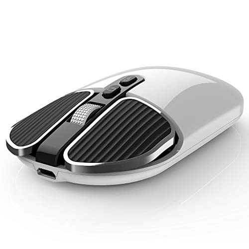 2.4g M203 USB Mute Mouse Ergonomics Optical Mouse Metal Roller Mouse 1600dpi Adjustable Wireless Charging Mouse