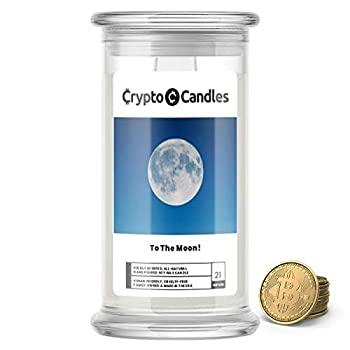 Jewelry Candles | Crypto Candle Collection | Bitcoin Token Inside | Guaranteed $5 in Real Bitcoin Value | 21oz USA Made | to The Moon