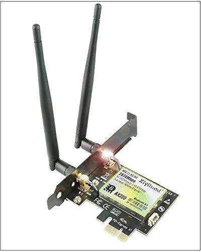 Ziyituod WiFi 6 AX200 Bluetooth 5.1 PCIe WLAN Karte | Bis zu 2402 Mbit/s | Intel WiFi 6 AX200 | 5 GHz PCIe Netzwerkkarte mit 160MHz, OFDMA | für Windows 10 64bit,Linux(ZYT-AX200)