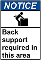 注意サイン-このエリアではバックサポートが必要です。 通行の危険性屋外防水および防錆金属錫サイン