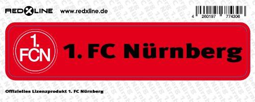 """STICKER AUFKLEBER """"Schrift"""" 1. FC NÜRNBERG 1. FCN NEU"""