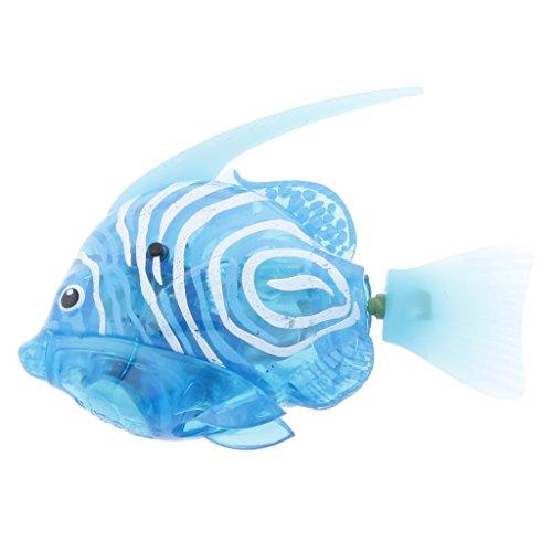Generic Robo Fisch Elektrische Schwimmen Anemonenfisch Roboter-Haustier 8,0 x 2,0 x 5,5 cm - Grau