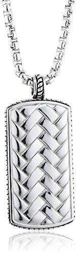 Baldessarini Herren-Halskette 925 Sterlingsilber vintage-oxidized 70 cm