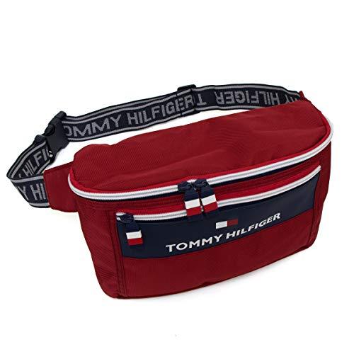 TOMMY HILFIGER トミーヒルフィガー City Trek 2 TC090CT9 ウェストポーチ ウェストバッグ ボディバッグ weist bag body bag ナイロン 軽量 コンパクト 斜めがけ 肩がけ ユニセックス (レッド) [並行輸入品]