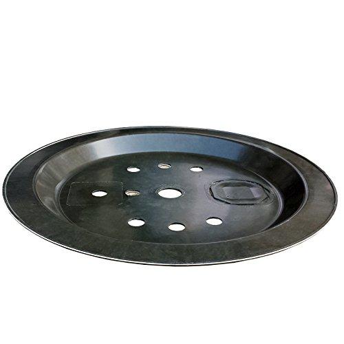 GFK-Abdeckung rund 66 cm für Wasserspiel und Becken Rundgitter 150kg belastbar mit Wartungsklappe